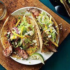Lemon Pepper Steak Tacos