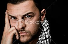 Real Young Man Thinking Portrait Royalty Free Stock Photo