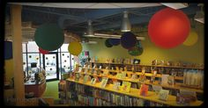 Joyful January | Celebrating INside Out at the Children's Library with a sentimental window display, giant balloons, and more! | hafuboti.com