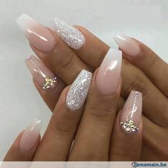 Wedding Nails For Bride Are you looking for wedding nails for bride? See our collection full of wedding nails for bride and get inspired!Are you looking for wedding nails for bride? See our collection full of wedding nails for bride and get inspired! Bride Nails, Prom Nails, Nails For Brides, Sns Nails, Nail Nail, Nail Polishes, Nail Gems, Wedding Nails Design, Nails For Wedding
