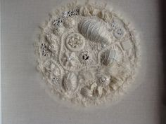 White embroidery- encrusting