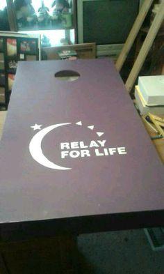 Relay for life cornhole