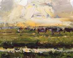 New Blog Post: http://rosepleinair.com/landscape-sunset-and-cows/ Cows walking…