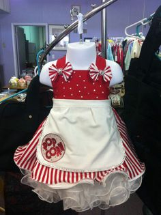 Pageant OOC - Outfit of Choice Circus Wear / Popcorn Vendor dress