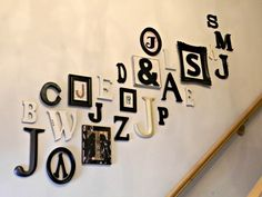 Cute idea from Organize and Decorate Everything - Initials for each member of the family