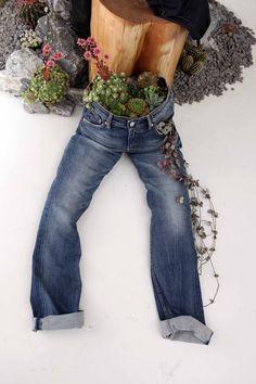 Op het Elle festival...cactussen in je spijkerbroek. Bijzonder!