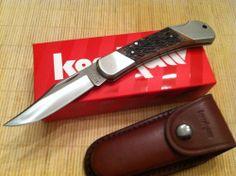 Kershaw Wildcat Ridge Lockback Knife Jigged Bone Handle Folding KS 3140JB Sheath