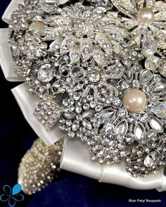 Bling! Brooch Bouquet by Blue Petyl