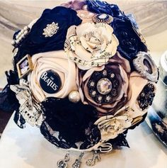 This one goes out to all the rock 'n' roll brides out there. | 27 Breathtaking Alternatives To A Traditional Wedding Bouquet