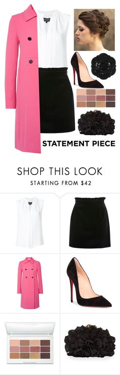 """""""Untitled #970"""" by o-p-backe ❤ liked on Polyvore featuring Derek Lam, Topshop, Valentino, Christian Louboutin, Laura Geller, Franchi, Swissco and statementcoats"""