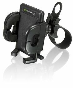 I think this would work for my cell phone on shopping carts. Amazon.com: Bracketron RWA-201-BL Golf Cart Mount with Grip-iT for GPS: Car Electronics