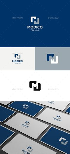 Modico M Letter Logo — Vector EPS #concept #clothing businesses • Download here → https://graphicriver.net/item/modico-m-letter-logo/4613594?ref=pxcr