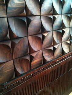 Dune wall tile in walnut