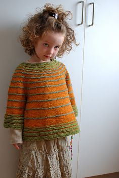 What don't I like about this? There's no way I could fit into a 4T sweater :( Keeping it as inspiration for altering a sweater pattern in my own size. Ravelry - My Hippie Baby (Freckle)