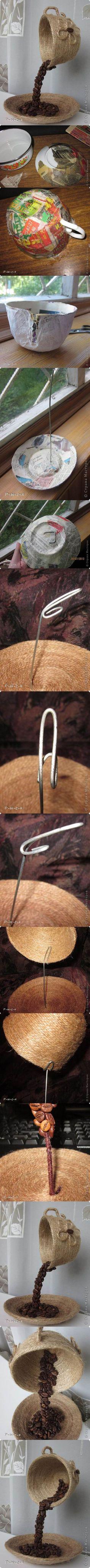 DIY Unique Table Decor with Coffee Beans | iCreativeIdeas.com