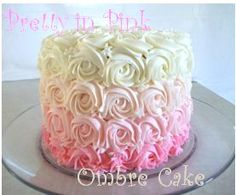 How to make an ombre cake- awesome step by step instructions!