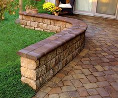 install pavers driveway with retaining wall - Google Search