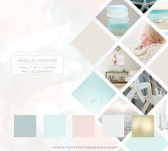 Kelly St-Pierre Photography - Branding Mood Board - Point of Vue Design… Web Design, Blog Design, Layout Design, Graphic Design, Brochure Design, Branding Design, Branding Tools, Fotografie Branding, Logo Marketing