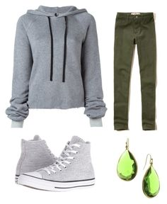 """""""Grey1"""" by zahra00762 on Polyvore featuring Hollister Co., Unravel, Converse and 1928"""