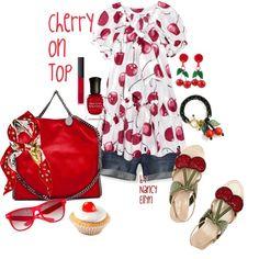 Cherry On Top plus denim shorts!