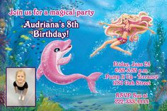 Barbie Merliah A Mermaids Tail Birthday Invitations Design Online - Digital Download - Get these invitations RIGHT NOW. Design yourself online, download JPG and print IMMEDIATELY! Or choose my printing services. No software download is required. Free to try!