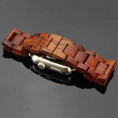 Apple watch band handcrafted wood strap mens wood bracelet