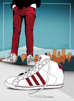 Adidas in Portland marianapoczapski in Illustration