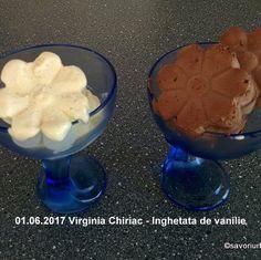 Inghetata de vanilie extra cremoasa de casa - reteta de baza | Savori Urbane Dessert Bars, Pudding, Desserts, Food, Meal, Custard Pudding, Deserts, Essen, Hoods