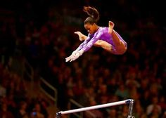 Gabby Douglas AKA flying squirrel... look at all that air that she has!