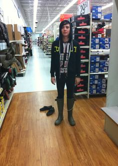 Ricky Horror trying on boots :D