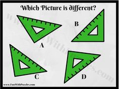 In each of these Picture Puzzle Images, four Pictures are given. Three of these pictures are exactly same. However there is one picture image which is slightly different from other three picture puzzle images. You challenge is find this Odd One Out Picture among given four Puzzle Picture Images.