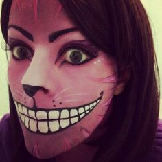 Cheshire Cat make up 2. by AllMadHera