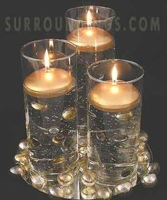 Floating candles - holiday, poinsettias, holly, snowflakes, gold ...