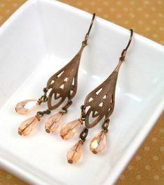 Elegant Vintage Chandelier Earrings | AllFreeJewelryMaking.com
