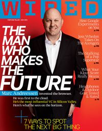 The Man Who Makes the Future: Wired Icon Marc Andreessen.    At 22, he invented Mosaic, the first graphical web browser—an innovation that is perhaps more responsible than any other for popularizing the Internet and bringing it into hundreds of millions of homes. He cofounded Netscape and took it public in a massive (for that time) stock offering that helped catalyze the dotcom boom. He started Loudcloud, a visionary service to bring cloud computing to business clients.