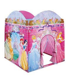 Take a look at this Pink Princess Play Tent by Disney Princesses Collection on @zulily  sc 1 st  Pinterest : disney princess mega castle playhut tent - memphite.com