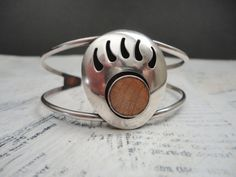 Vintage Navajo Sterling Silver Bear Claw Paw Cuff by TnBCdesigns, $45.00
