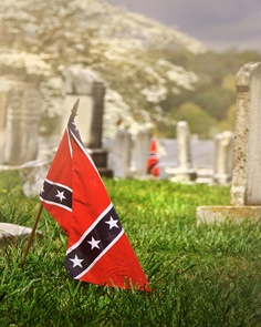 CONFEDERATE FLAGS  red white blue  Civil War