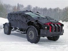 """In light of the new Tesla Cybertruck, you may want to know that the Russian Special Forces possess this armored vehicle. Its codename is """"Punisher"""" Snow Vehicles, Army Vehicles, Armored Vehicles, Zombie Vehicle, Bug Out Vehicle, Vehicle Wraps, Armored Truck, Military Equipment, Special Forces"""