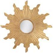 "Sunflower 36"" Wide Antique Gold Wall Mirror - #W9002   LampsPlus.com"