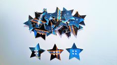 Tartan card star buttons by tartangiftcompany on Etsy