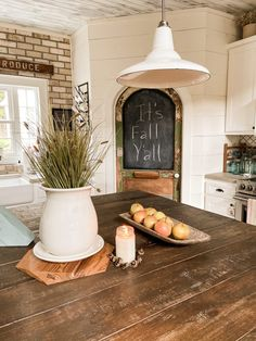 Join me on a blog hop tour - Fall Farmhouse Inspiration. See how Copper, Amber, Thrift Store & Flea Market flips, trash to treasure finds, DIY & craft projects, repurposed items and more come together for this years Fall Country Style. Tour includes Living Area, Kitchen and Dining Area of the Farmhouse. Southern Style, Country Style, Farmhouse Style, Dining Area, Kitchen Dining, Diy Plate Rack, Amber Bottles, Fall Dishes, Vintage Windows