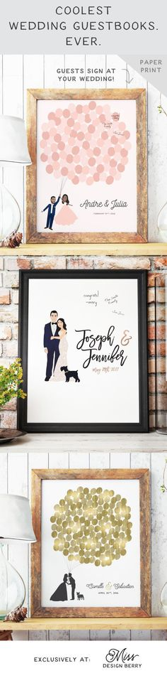 Cutest wedding guestbooks from Miss Design Berry! Customized just for you!!
