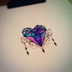 ... about tattoo on Pinterest | Heart Diamonds and Cover up tattoos