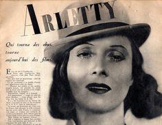 Arletty (1898-1992) | The 1930s-1938 Cinemonde | Arletty