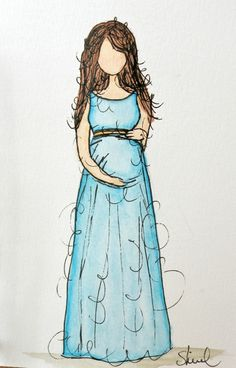 pregnant she art, super cute! | Art Journal / Mixed Media ...