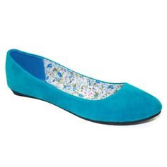 Cute and bold blue flats