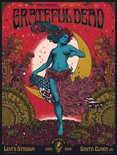 'Grateful Dead' Fare Thee Well Concert Poster by Richey Beckett
