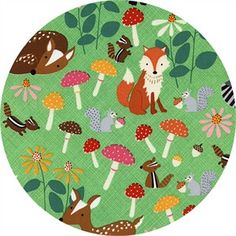 Timeless Treasures Lets Get Nutty in Green - Cotton - width inches - 1 Yard This cute fabric has woodland animals like Deer, Tent Fabric, Cool Fabric, Fabric Shop, Forest Animals, Woodland Animals, Woodland Fabric, Timeless Treasures Fabric, Shops, Novelty Fabric