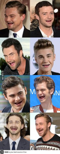 Celebrities without teeth XD I can't stop laughing
